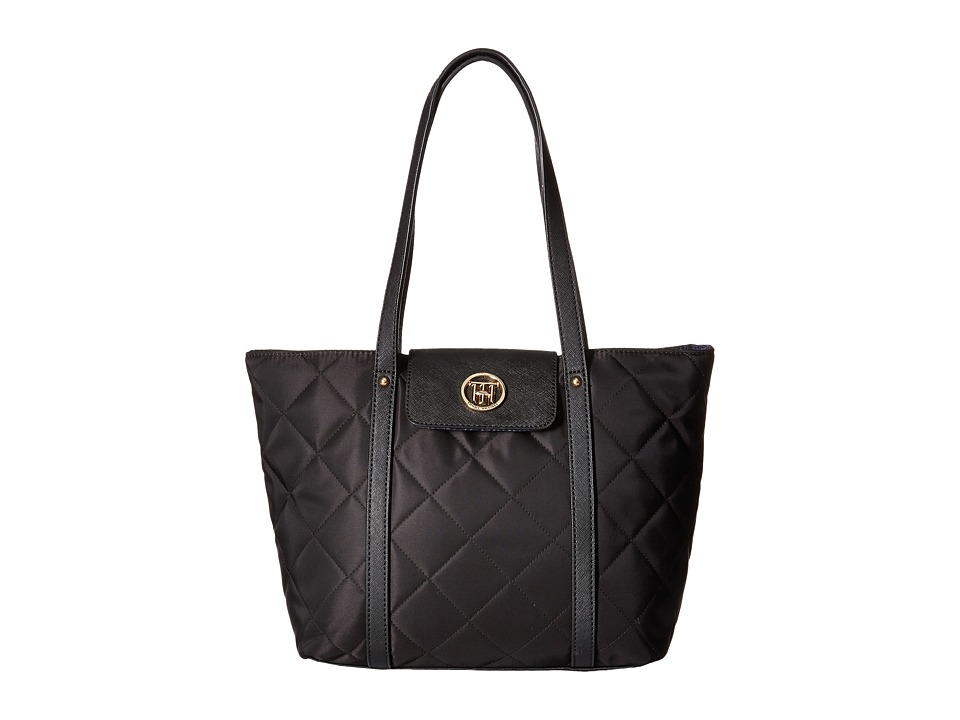 Tommy Hilfiger - Hayden - Quilted Nylon Tote (Black) Tote Handbags