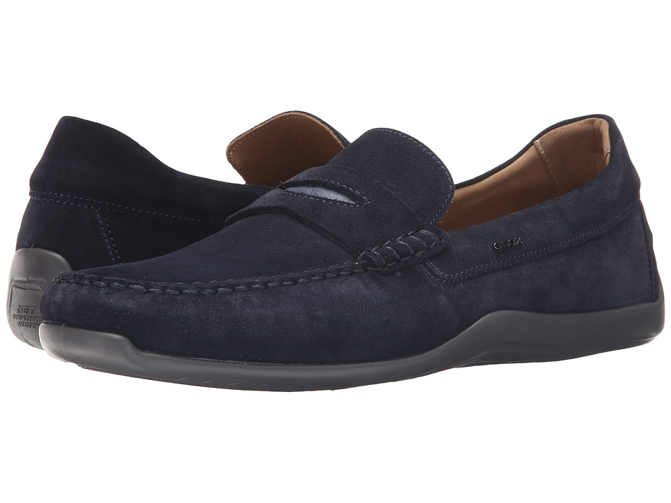 Geox - U Xense Mox 5 (Navy 1) Men's Moccasin Shoes