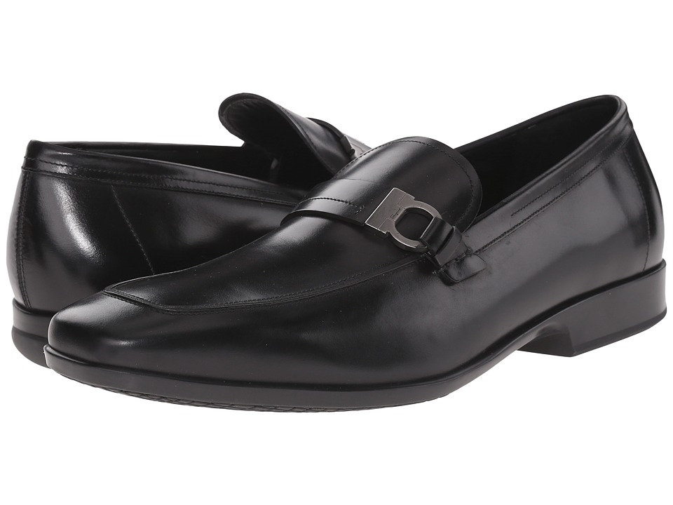 Salvatore Ferragamo - Lamberto Loafer (Black) Men's Slip on Shoes