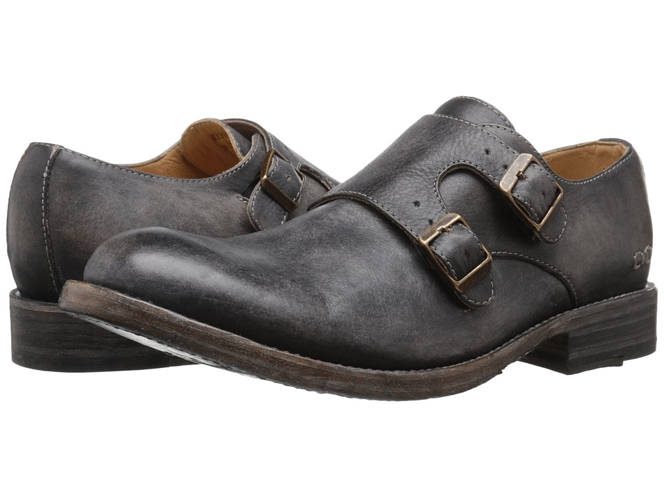 Bed Stu - Panza (Black Driftwood Leather) Men's Slip on Shoes