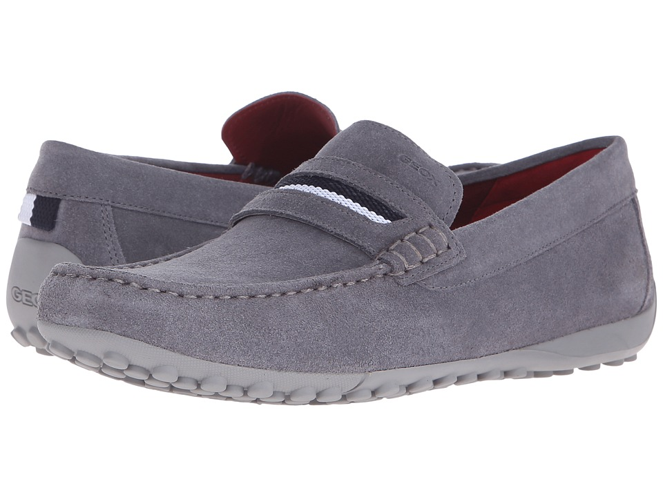 Geox - Uomo Snake Mocassino 11 (Dark Grey) Men's Slip on Shoes