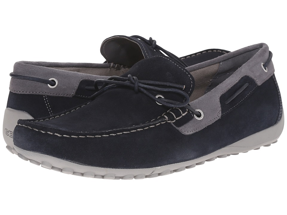 Geox - Uomo Snake Mocassino (Navy/Dark Grey) Men's Slip on Shoes