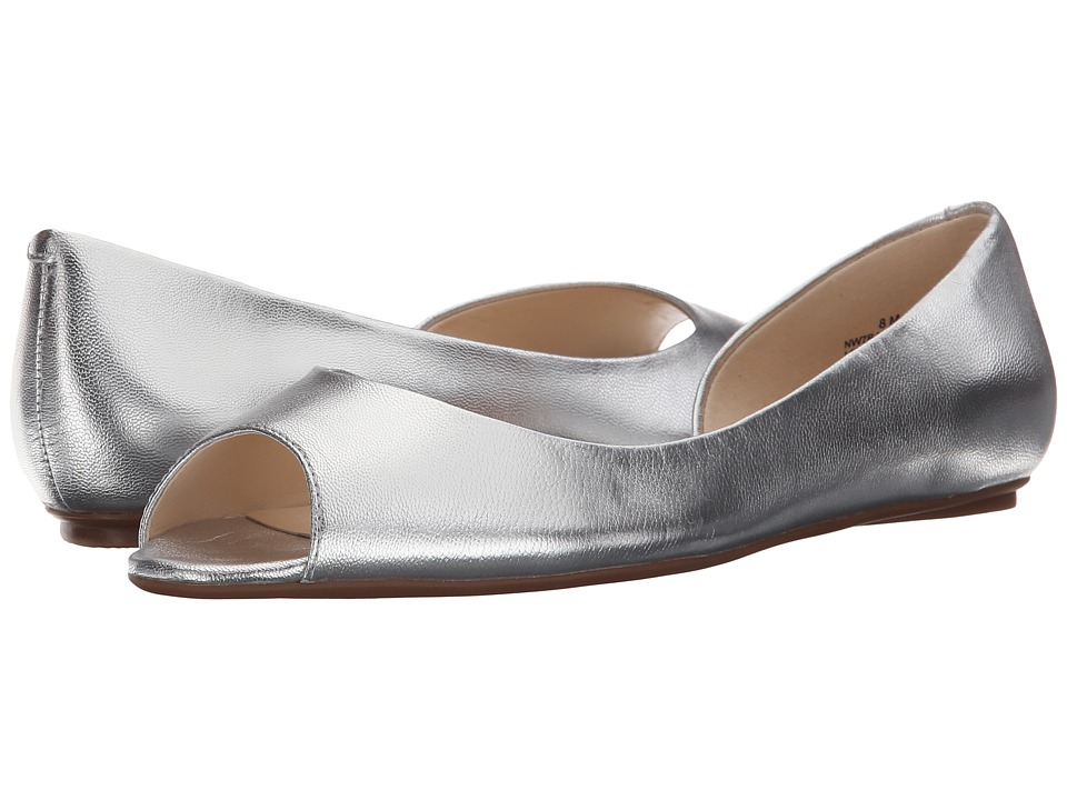 Nine West Bachloret Silver Metallic Womens Flat Shoes