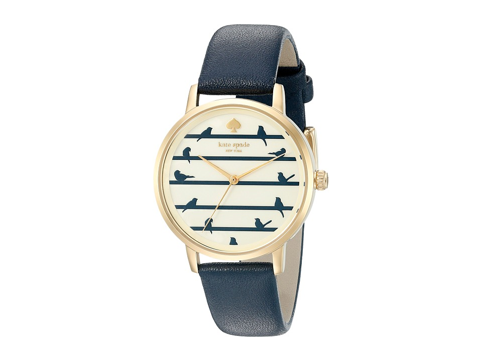 Kate Spade New York - Metro - KSW1022 (Navy on Gold) Watches