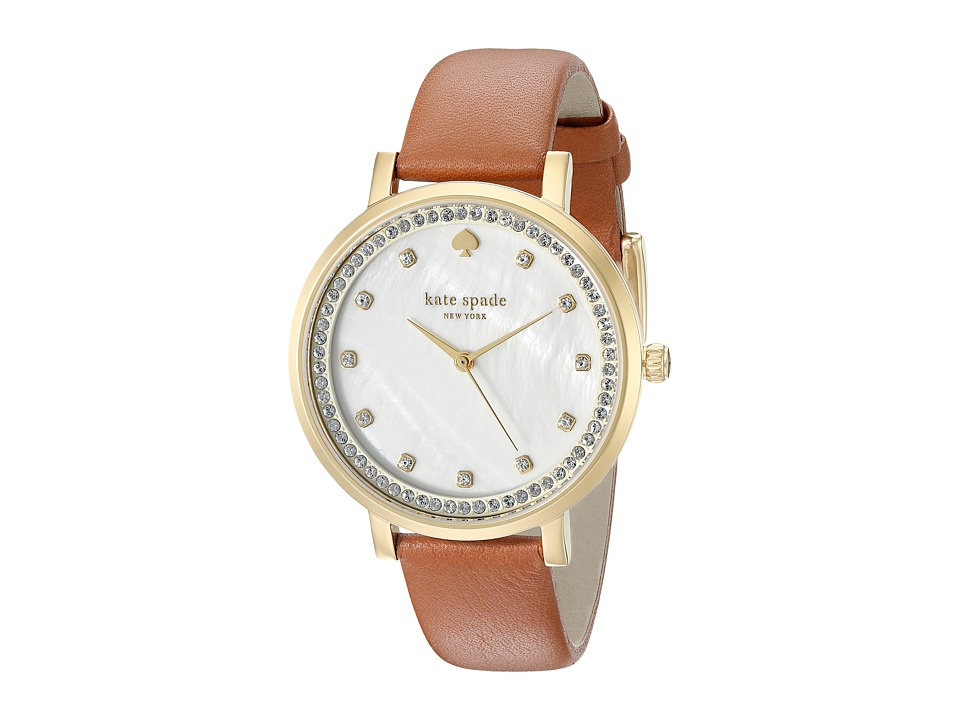 Kate Spade New York - Monterey - KSW1050 (Brown on Rose Gold) Watches