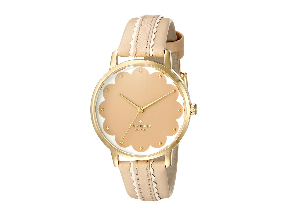 Kate Spade New York - Metro - KSW1002 (Tan on Gold) Watches