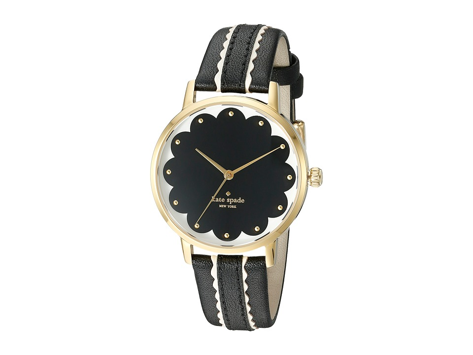 Kate Spade New York - Metro - KSW1001 (Black on Gold) Watches