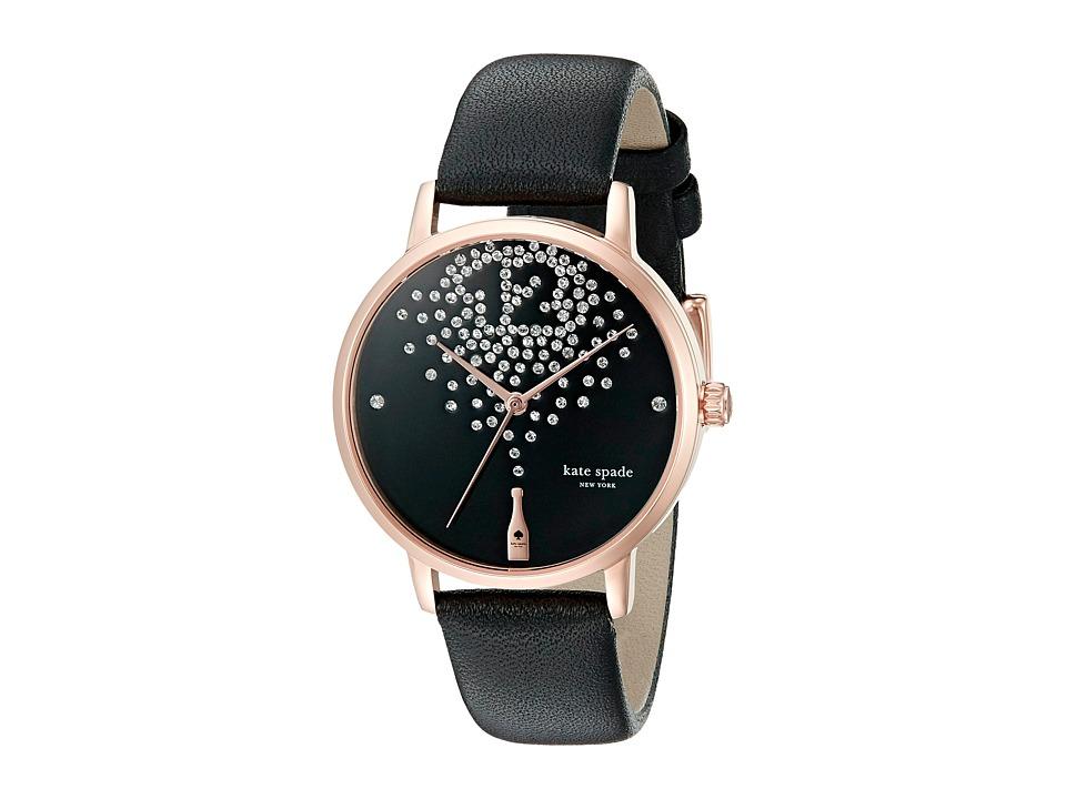 Kate Spade New York - Metro - KSW1014 (Black on Rose Gold) Watches