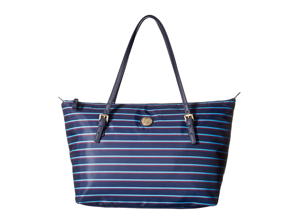 Tommy Hilfiger - TH Shopper - Nylon Large Tote (Navy/French Blue) Tote Handbags