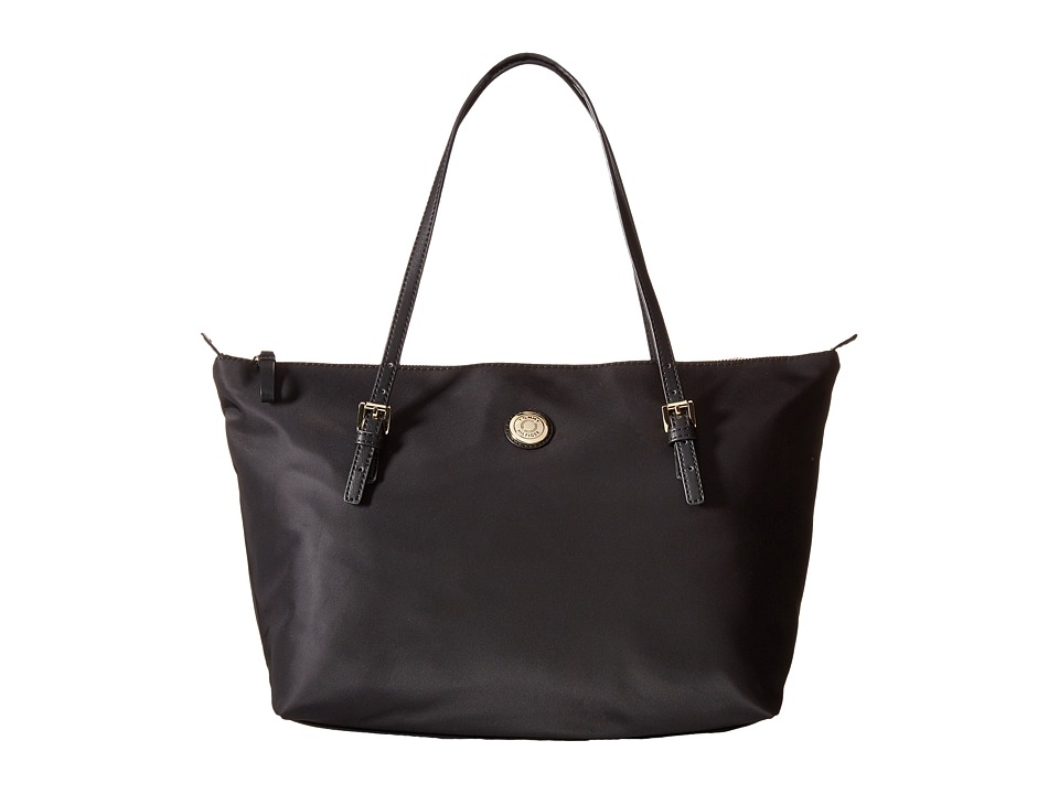 Tommy Hilfiger - TH Shopper - Nylon Large Tote (Black) Tote Handbags