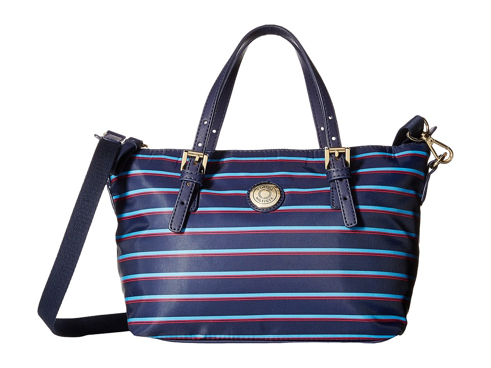 Tommy Hilfiger - TH Shopper - Nylon Small Convertible Tote (Navy/French Blue) Tote Handbags