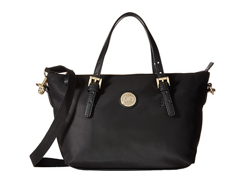Tommy Hilfiger - TH Shopper - Nylon Small Convertible Tote (Black) Tote Handbags
