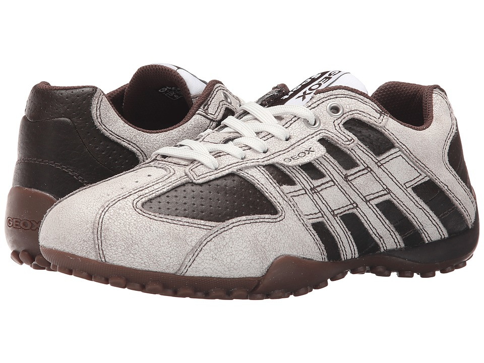 Geox - Msnake113 (White/Coffee) Men's Shoes