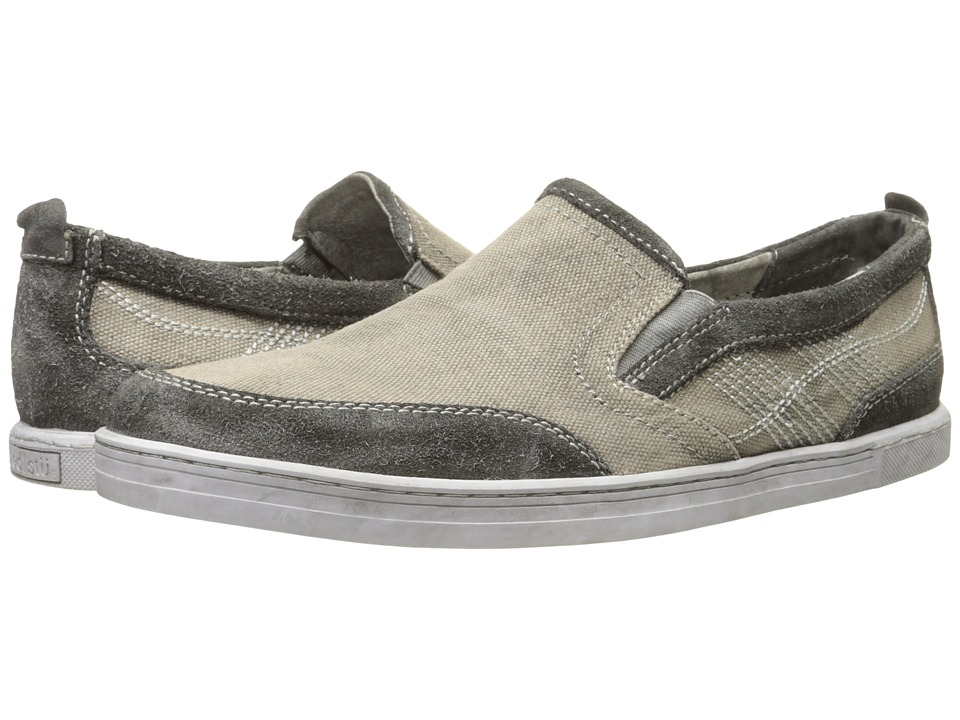 Bed Stu - Bluegill (Grey Garment Suede Canvas/Leather) Men