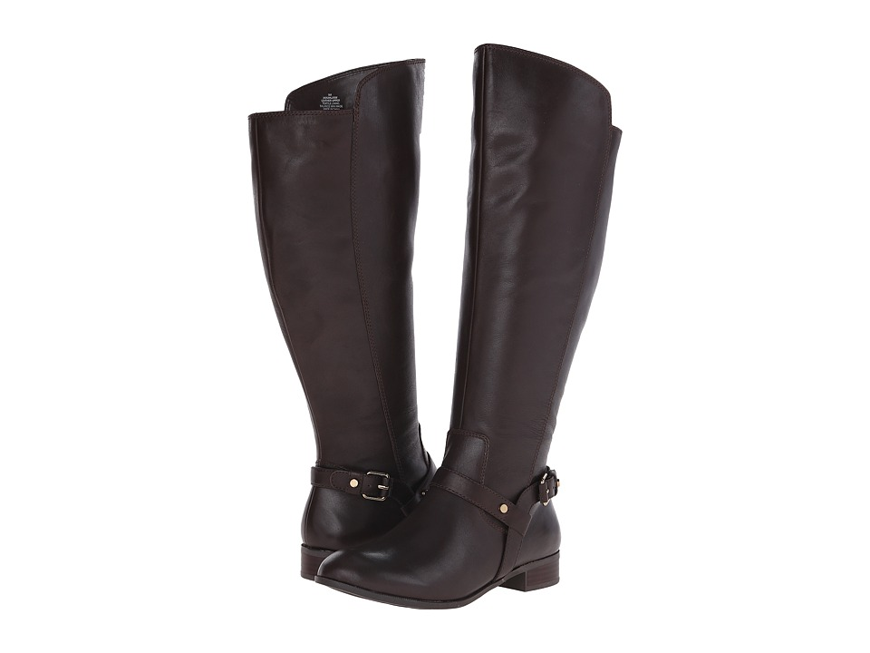 Anne Klein - Kahlan Wide (Dark Brown Multi Wide Leather) Women's Pull-on Boots