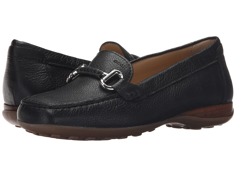 Geox - WEURO64 (Black) Women's Slip on Shoes