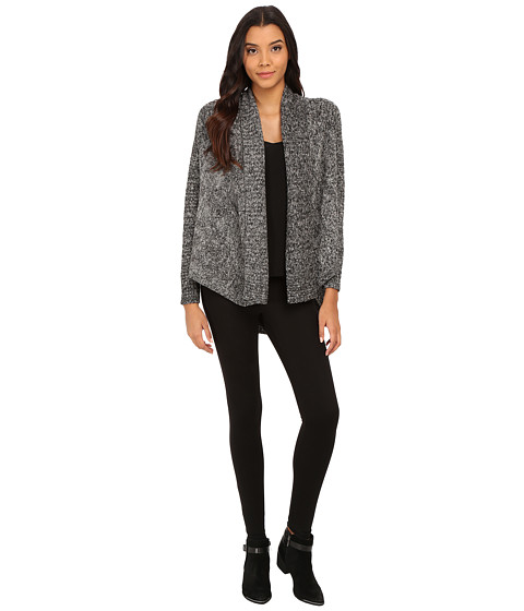 LAmade - Open Cardigan Over (Raven) Women's Sweater