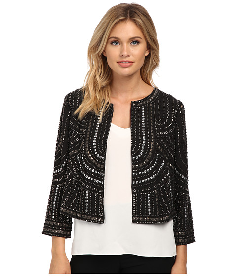 Velvet by Graham & Spencer - Tansy Long Sleeve Crop Jacket (Black) Women