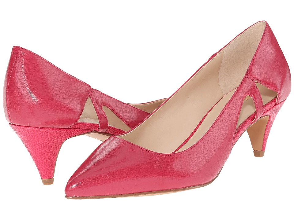 Nine West - Coyote (Pink Leather) Women's 1-2 inch heel Shoes