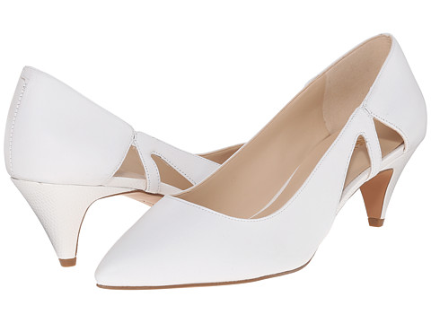 Nine West - Coyote (White Leather) Women's 1-2 inch heel Shoes