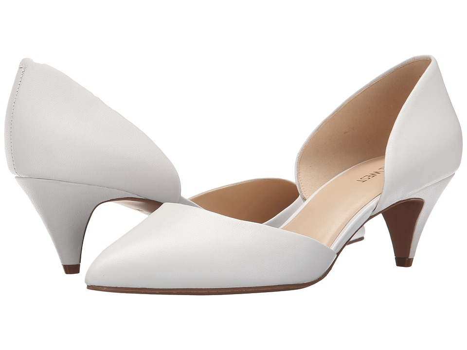 Nine West - Chaching (White Leather) Women's 1-2 inch heel Shoes