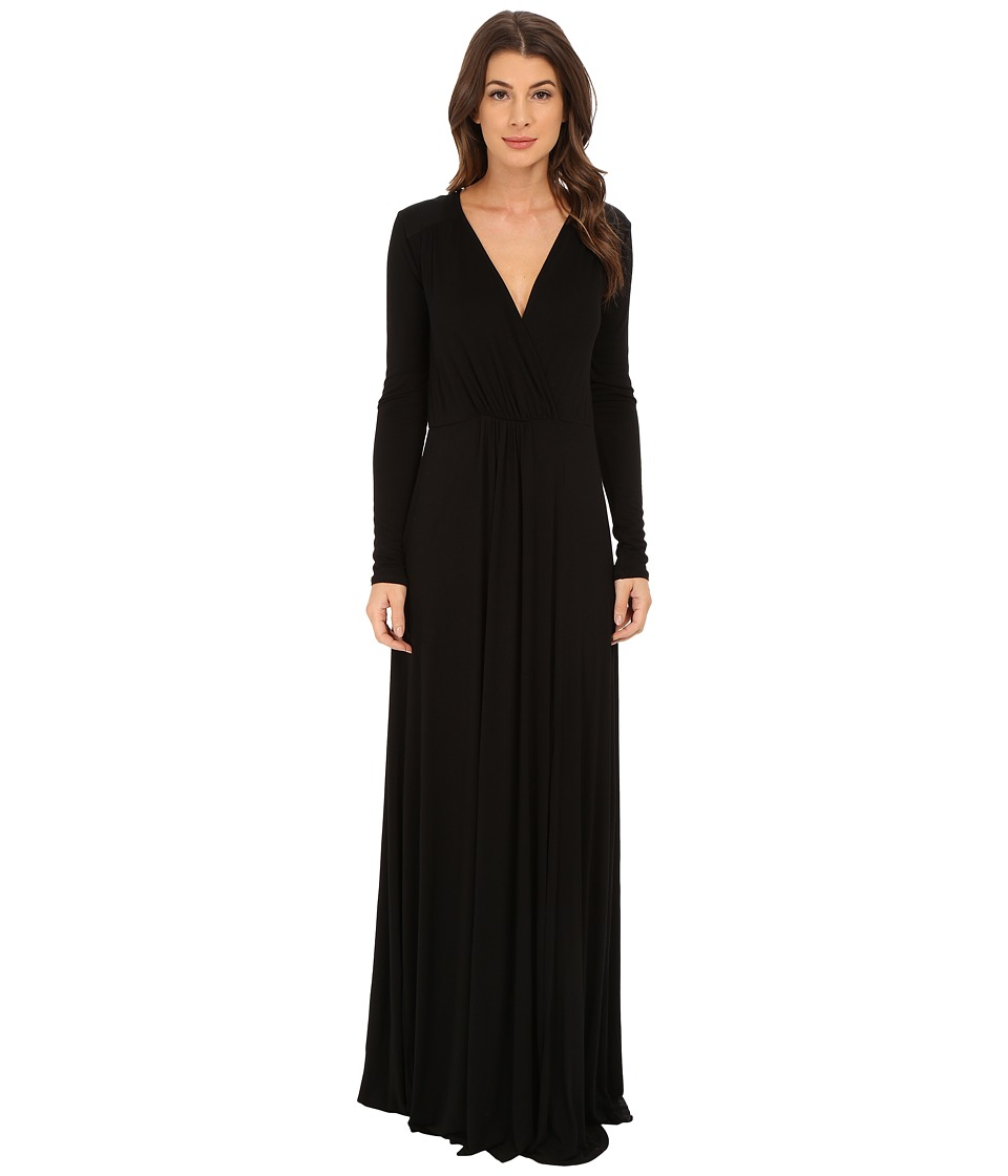 LAmade - Sapphire Surplice Maxi (Black) Women's Dress