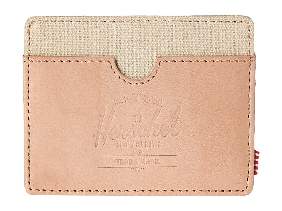 Herschel Supply Co. - Charlie Leather (Natural Leather/Natural) Wallet Handbags