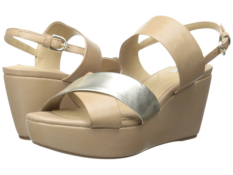Geox - WTHELMA6 (Light Taupe/Light Gold) Women's Shoes