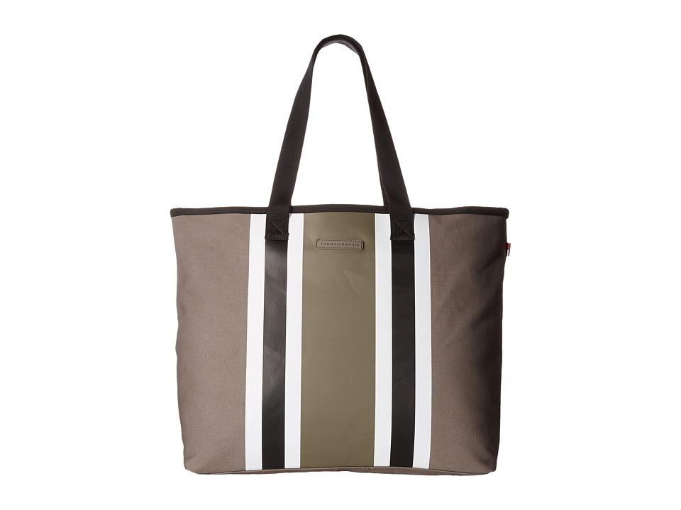 Tommy Hilfiger - Stripes Tote Canvas (Pepper/Black) Tote Handbags