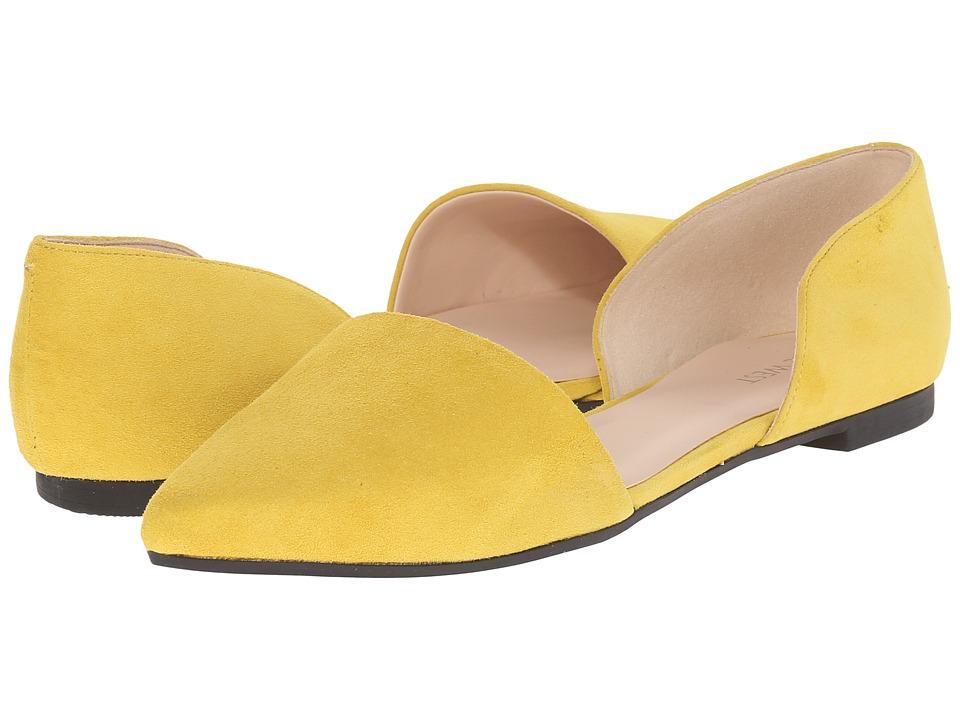 Nine West - Deputy (Yellow Suede) Women's Flat Shoes