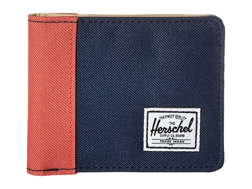 Herschel Supply Co. - Edward (Navy/Flamingo/Natural) Bi-fold Wallet