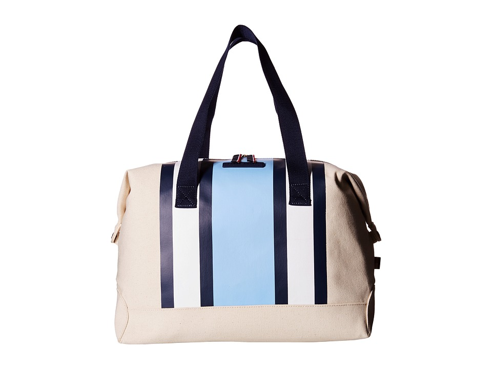 Tommy Hilfiger - Stripes Canvas Weekender (Natural/Blue) Duffel Bags