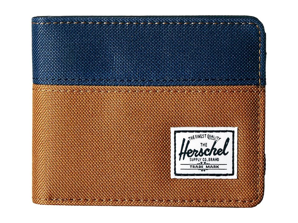 Herschel Supply Co. - Hank (Caramel/Navy) Wallet Handbags