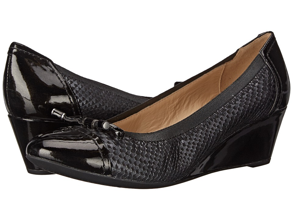 Geox - WFLORALIE19 (Black) Women's Wedge Shoes
