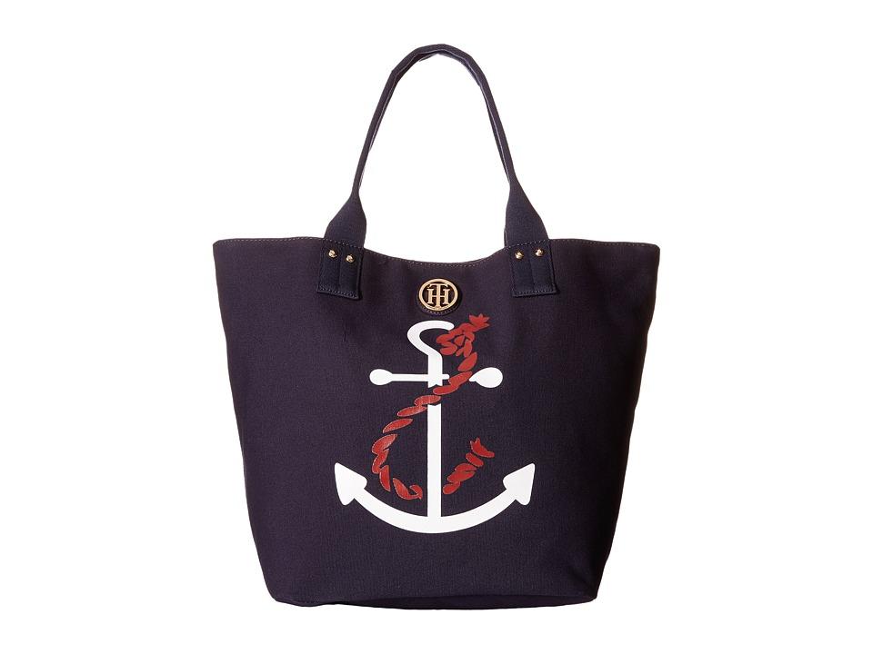 Tommy Hilfiger - Ali - Anchor Printed Canvas Shopper (Navy) Tote Handbags