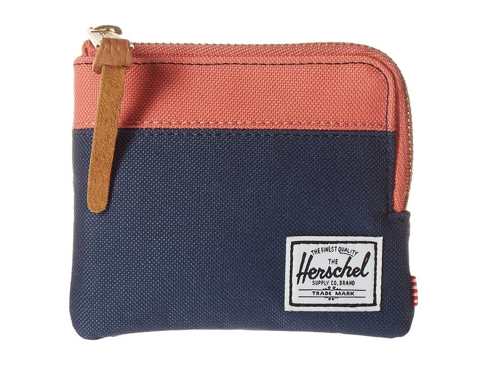 Herschel Supply Co. - Johnny (Navy/Flamingo) Coin Purse