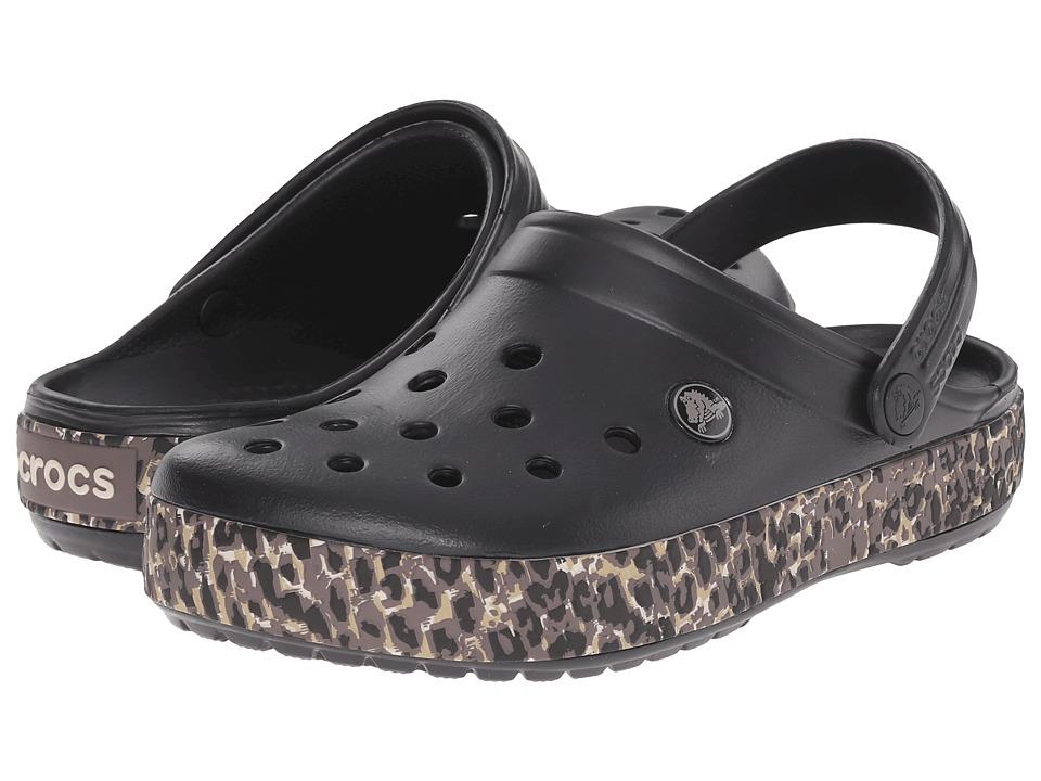 Crocs - Crocband Leopard Clog (Black) Clog Shoes