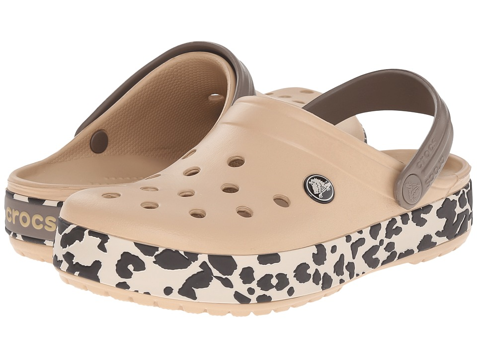 Crocs - Crocband Leopard Clog (Gold/Black Leopard) Clog Shoes