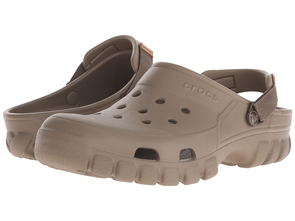 Crocs - Off Road Sport Clog (Khaki/Walnut) Clog Shoes