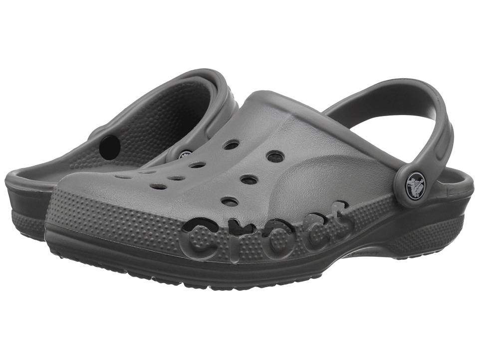 Crocs - Baya (Unisex) (Smoke) Slip on Shoes