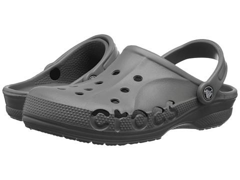 Crocs - Baya (Unisex) (Smoke) Slip on Shoes