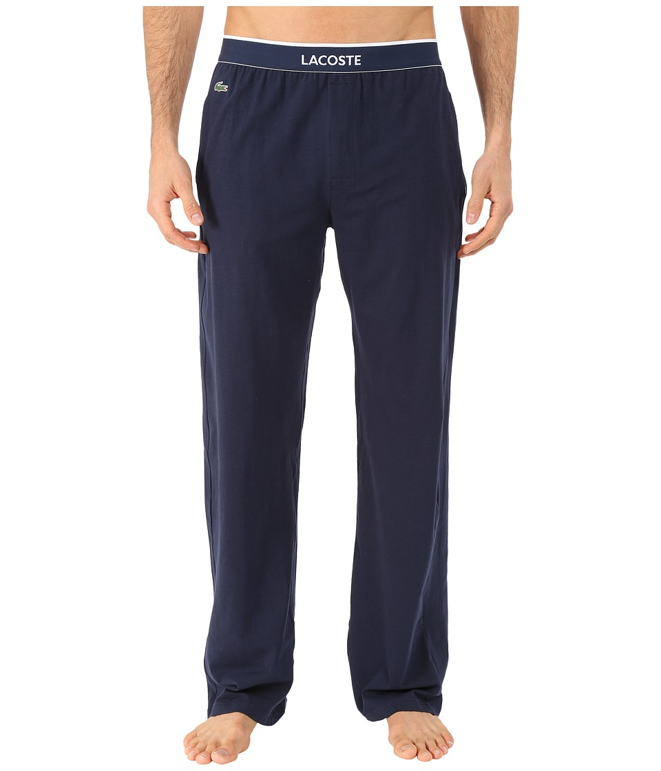 Lacoste - Solid Pants (Navy) Men's Pajama