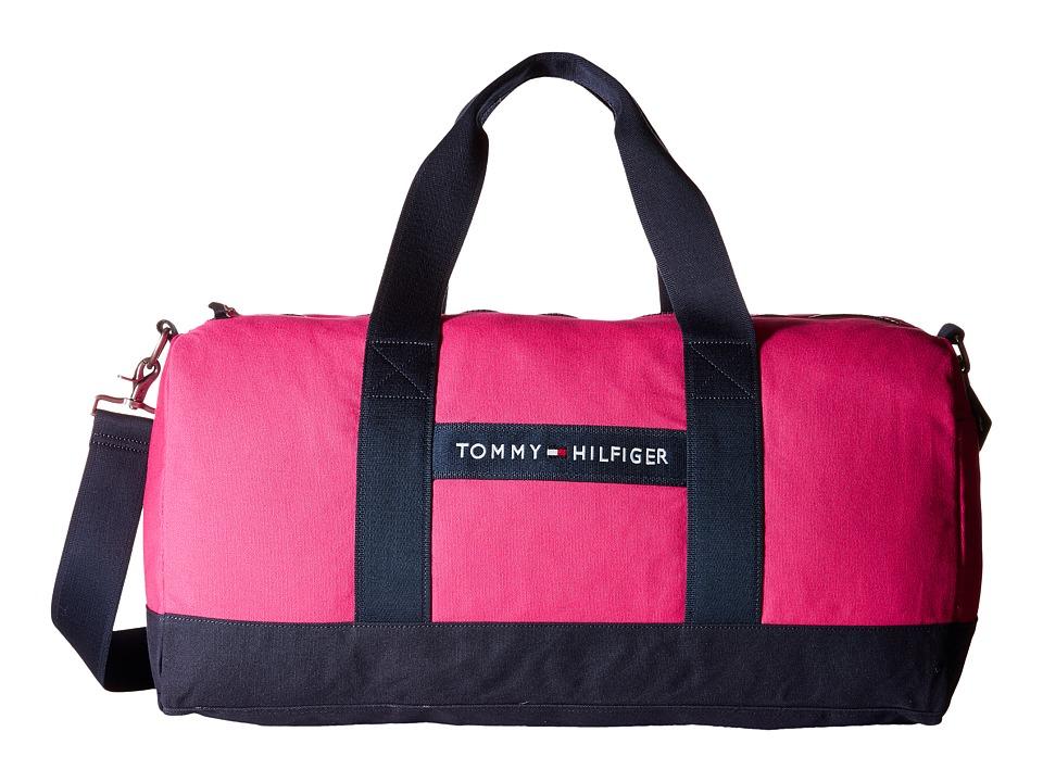 Tommy Hilfiger - TH Sport - Core Plus Medium Duffel (Pink/Navy) Duffel Bags