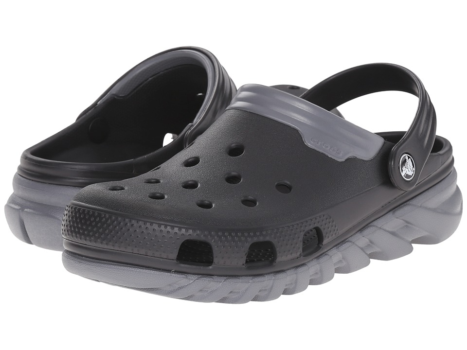 Crocs - Duet Max Clog (Black/Charcoal) Clog Shoes
