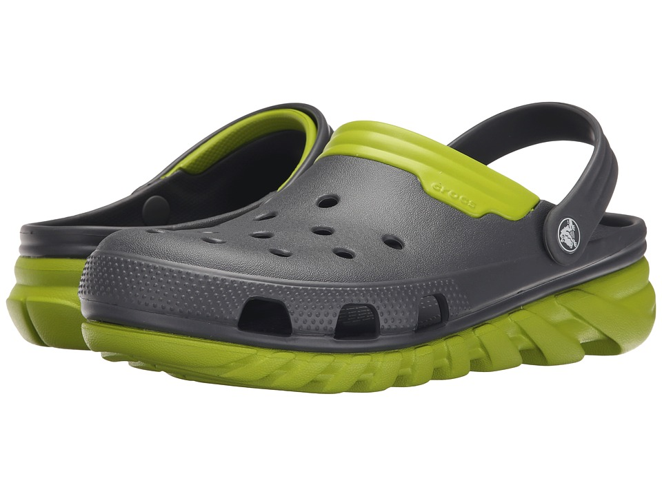 Crocs - Duet Max Clog (Graphite/Volt Green) Clog Shoes