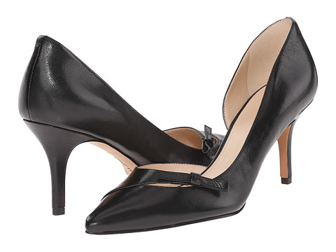 Nine West - Katja (Black Leather) High Heels