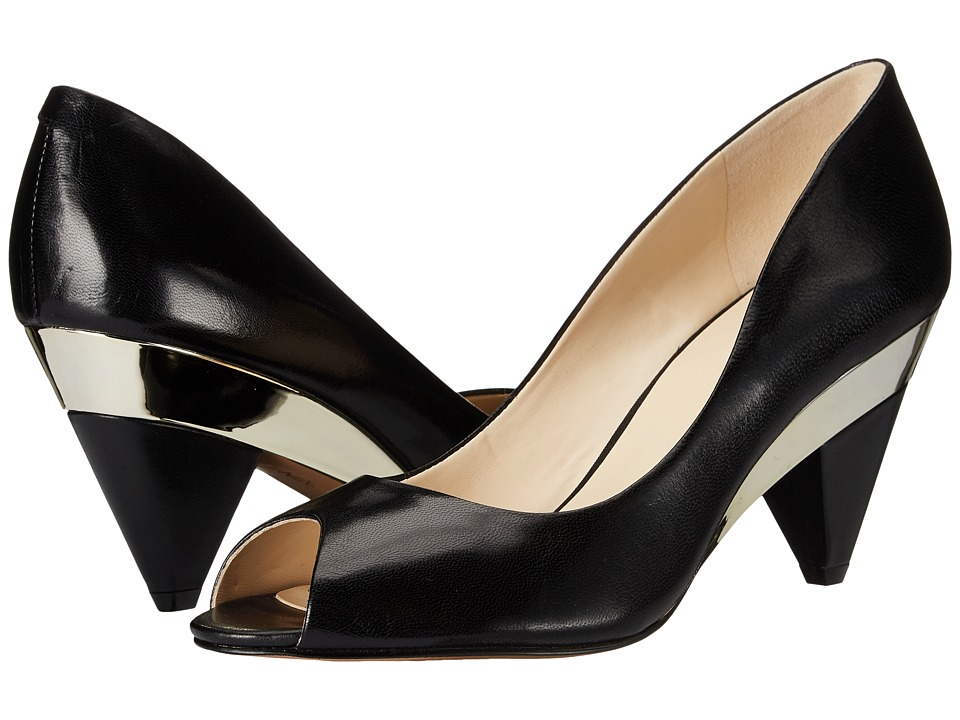 Nine West - Heliconia (Black Leather) High Heels