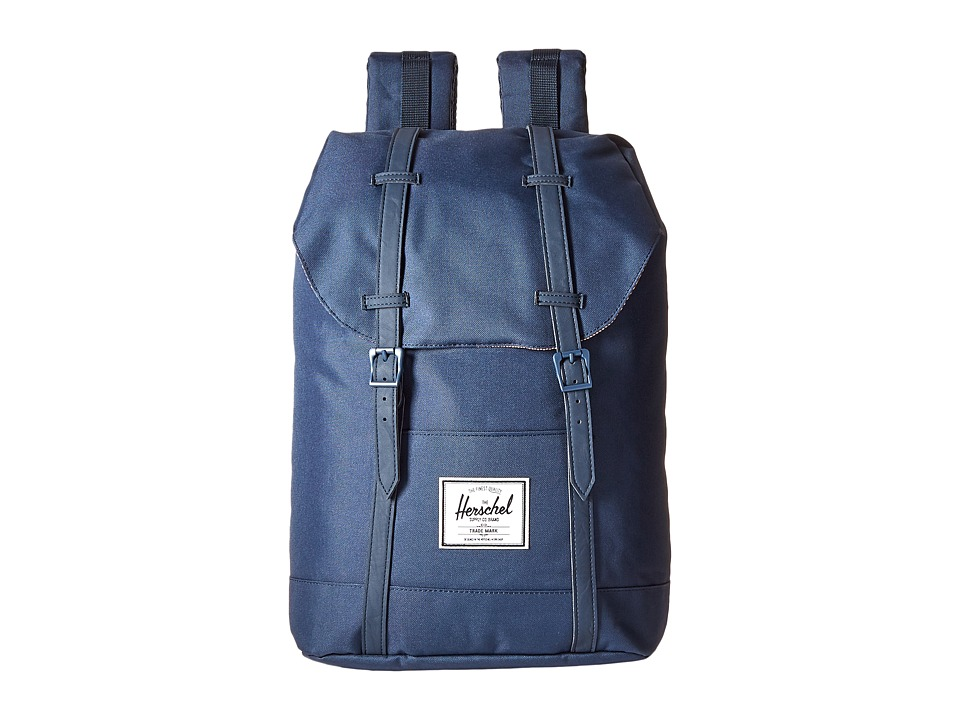 Herschel Supply Co. - Retreat (Navy/Navy Synthetic Leather) Backpack Bags