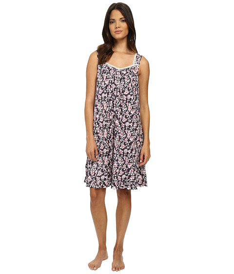 Eileen West - Short Nightgown (Berry Floral Print) Women