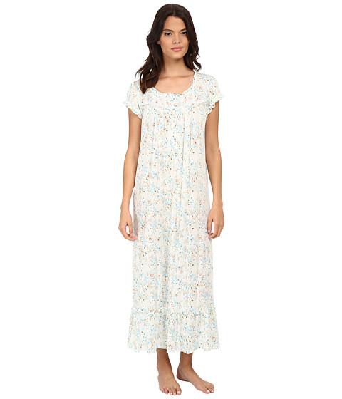 Eileen West - Ballet Nightgown (White Ground Multi Floral) Women